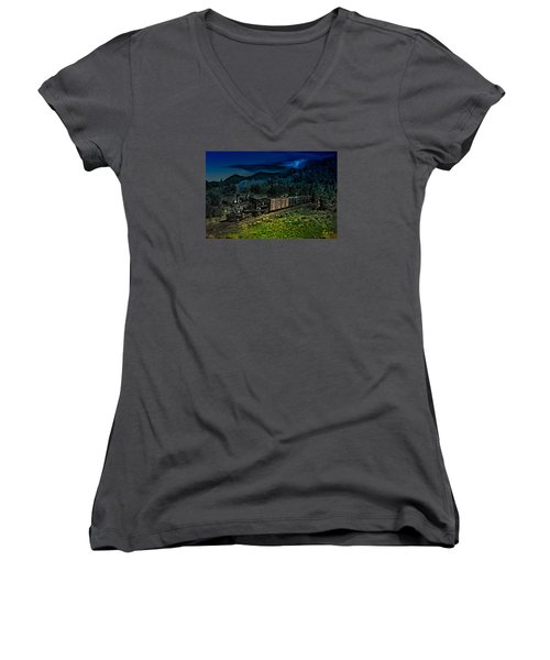 Drifting Down To Antonitio Women's V-Neck T-Shirt (Junior Cut) by J Griff Griffin