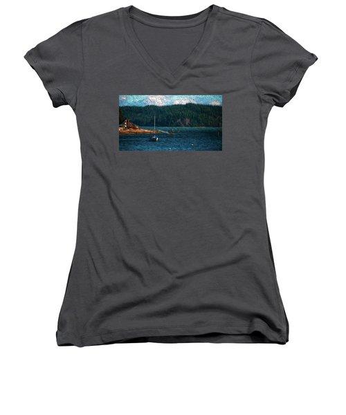 Drifting Women's V-Neck T-Shirt