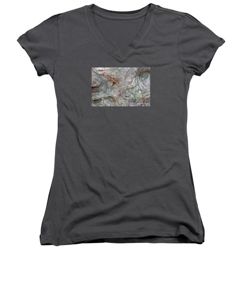 Driftwood Burl Women's V-Neck T-Shirt