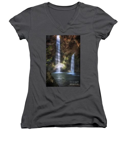 Dripping Springs Falls Women's V-Neck T-Shirt