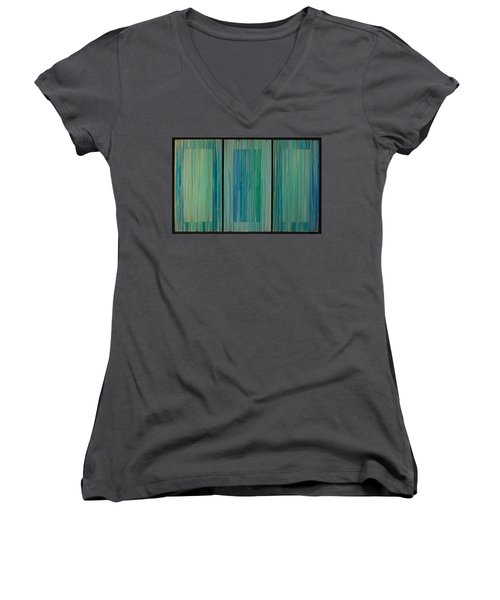 Drippings Triptych Women's V-Neck