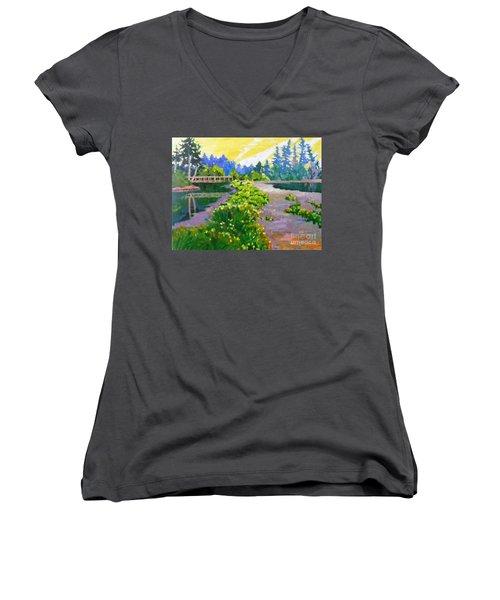 Drizzling Seaside Women's V-Neck T-Shirt