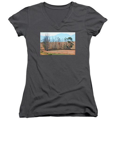 Drought-stricken South African Farmlands - 3 Of 3 Women's V-Neck T-Shirt