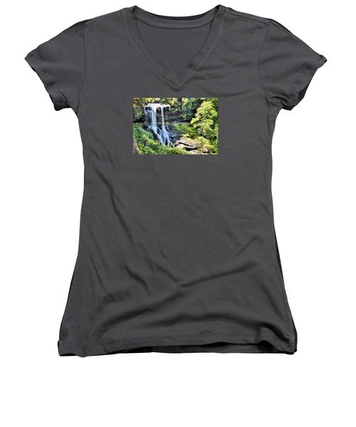 Dry Falls Of Appalachia Women's V-Neck T-Shirt