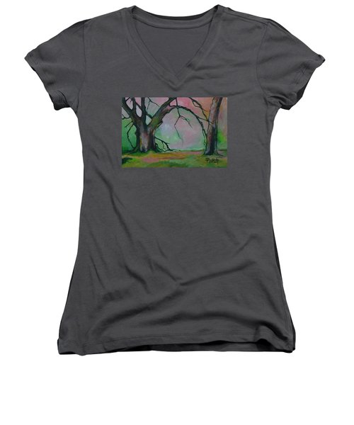 Dry Forest Women's V-Neck (Athletic Fit)