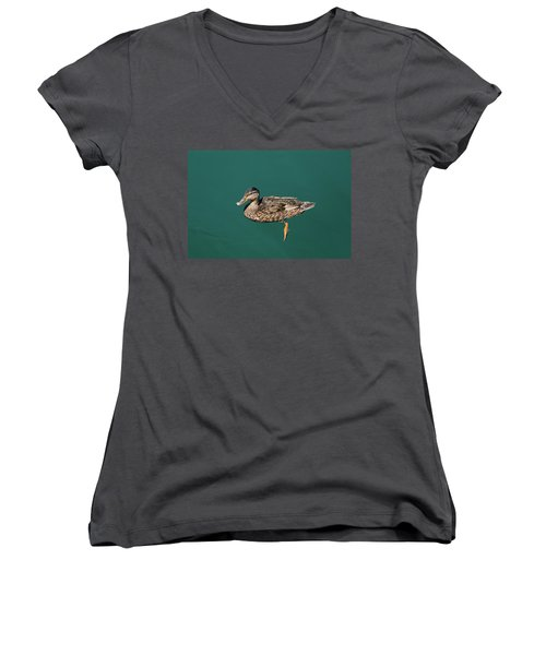Duck Floats Women's V-Neck (Athletic Fit)