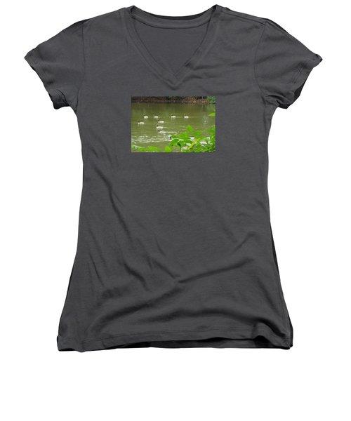 Duck Nation  Women's V-Neck T-Shirt