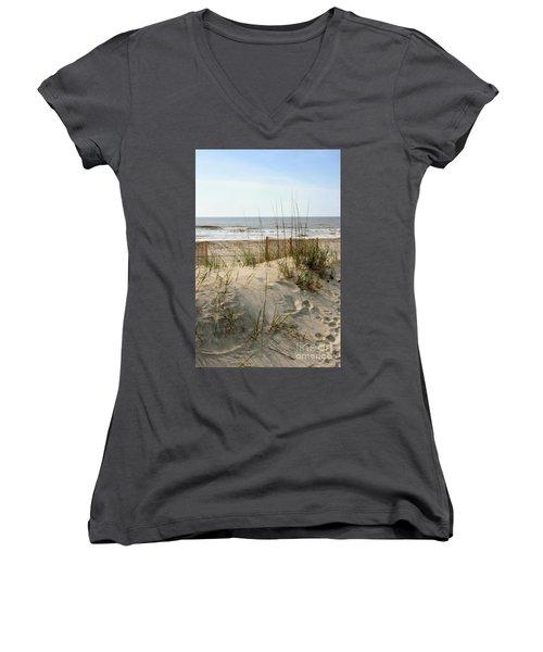 Dune Women's V-Neck T-Shirt (Junior Cut) by Angela Rath