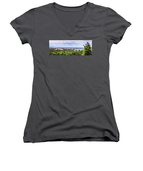 Dunes Along Lake Michigan Women's V-Neck