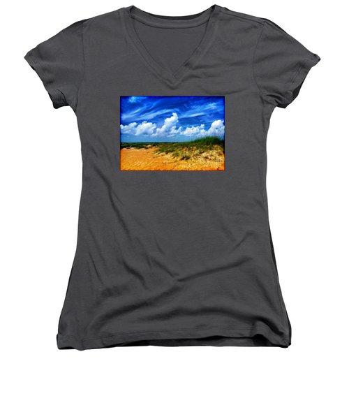 Dunes At Bald Head Island Women's V-Neck T-Shirt