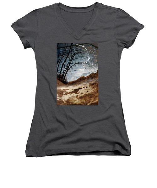 Dunes Women's V-Neck T-Shirt (Junior Cut)