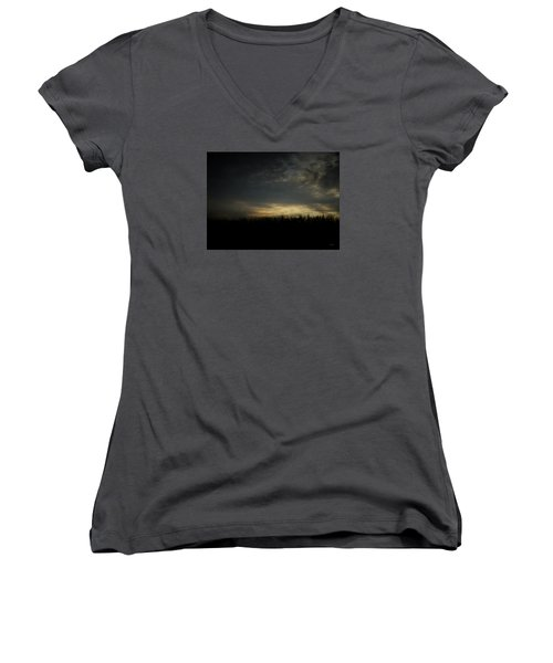 Dusk Women's V-Neck T-Shirt (Junior Cut) by Cynthia Lassiter