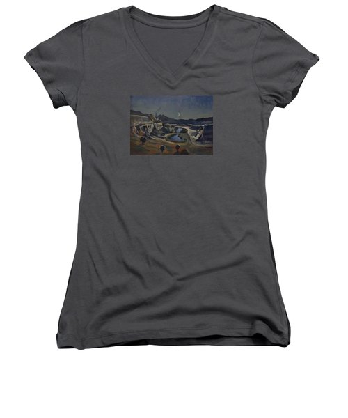 Dusk Over The Sint Pietersberg Women's V-Neck T-Shirt (Junior Cut)