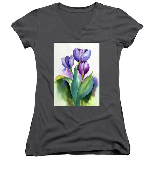 Dutch Tulips Women's V-Neck (Athletic Fit)