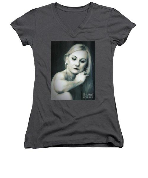 Dyan  ... Women's V-Neck T-Shirt (Junior Cut) by Chuck Caramella