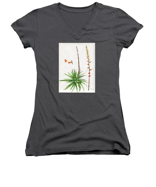 Dyckia Platyphylla Women's V-Neck (Athletic Fit)