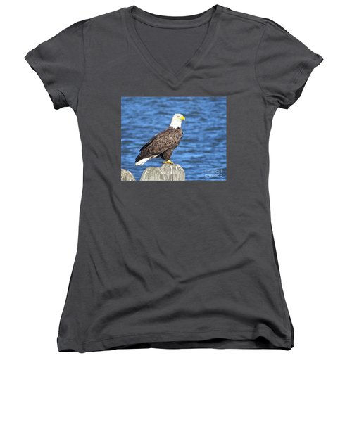 Eagle At East Point  Women's V-Neck T-Shirt