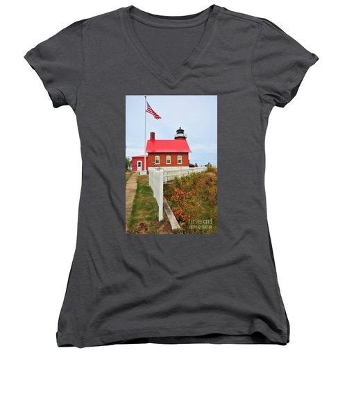 Eagle Harbor Lighthouse Women's V-Neck
