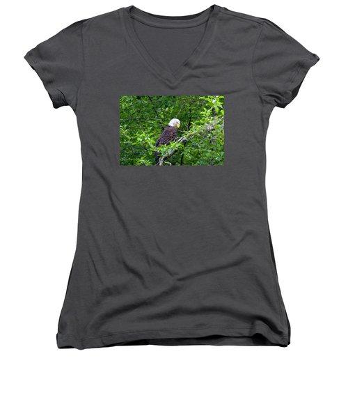 Eagle In The Tree Women's V-Neck