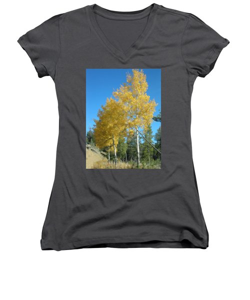 Early Autumn Aspens Women's V-Neck (Athletic Fit)