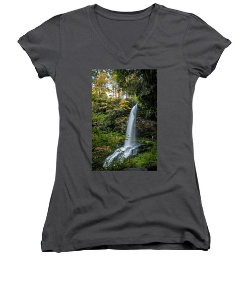 Early Autumn At Dry Falls Women's V-Neck