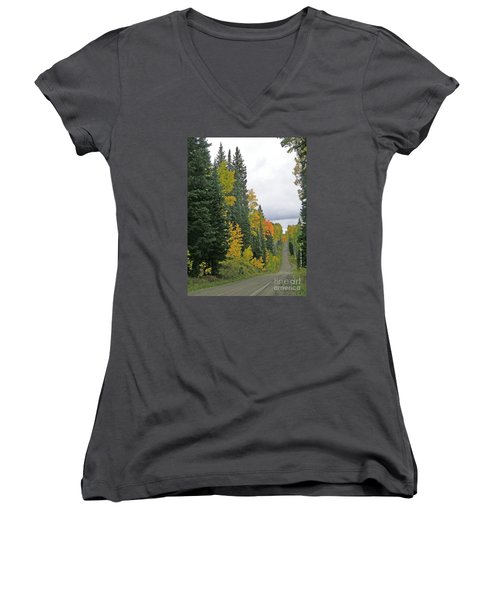 Early Fall Color Display In Colorado Women's V-Neck (Athletic Fit)