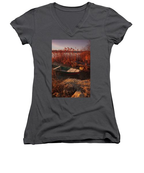 Early In The Morning Women's V-Neck (Athletic Fit)