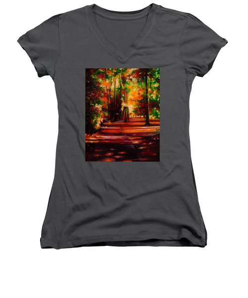 Early Monday Morning Women's V-Neck T-Shirt (Junior Cut) by Emery Franklin