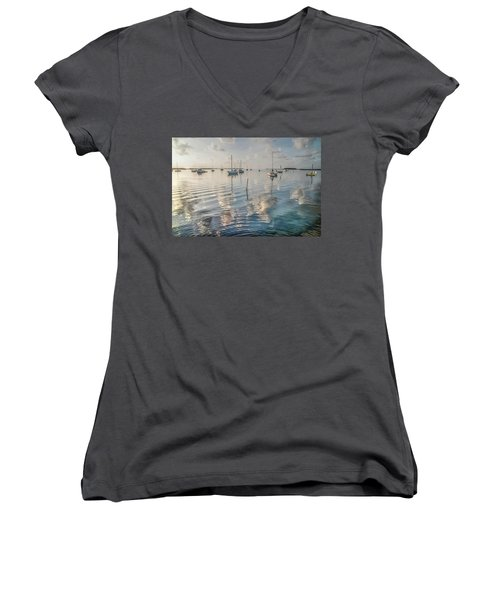 Early Morning Calm Women's V-Neck (Athletic Fit)