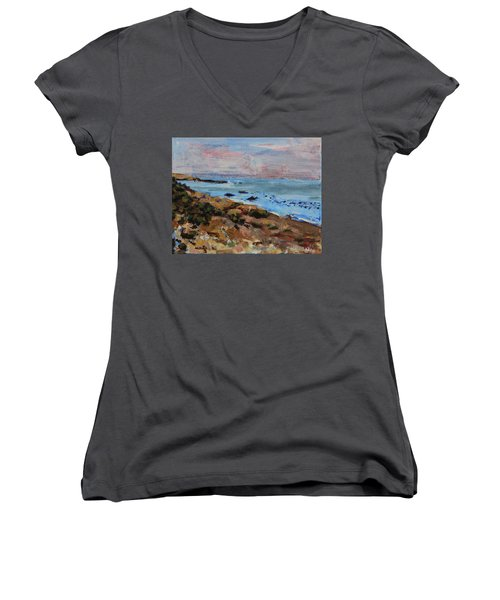 Early Morning Low Tide Women's V-Neck (Athletic Fit)