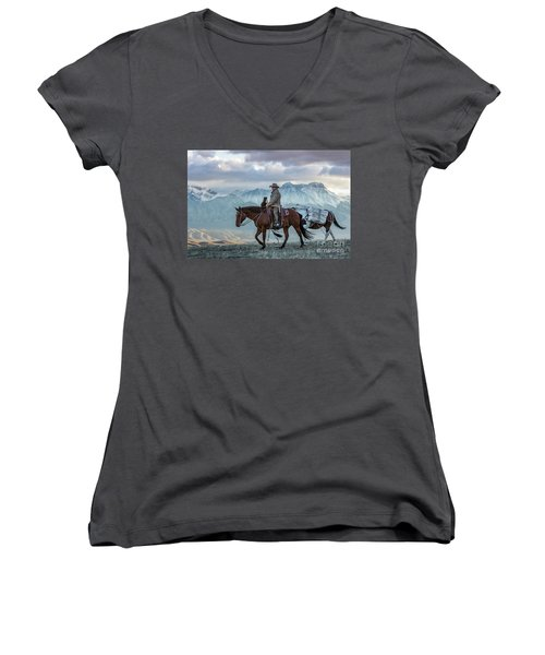 Early October Hunt Wild West Photography Art By Kaylyn Franks Women's V-Neck