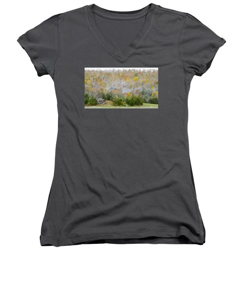 Early Snow Fall Women's V-Neck