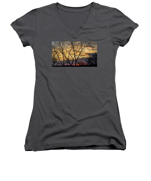 Early Spring Sunrise Women's V-Neck T-Shirt