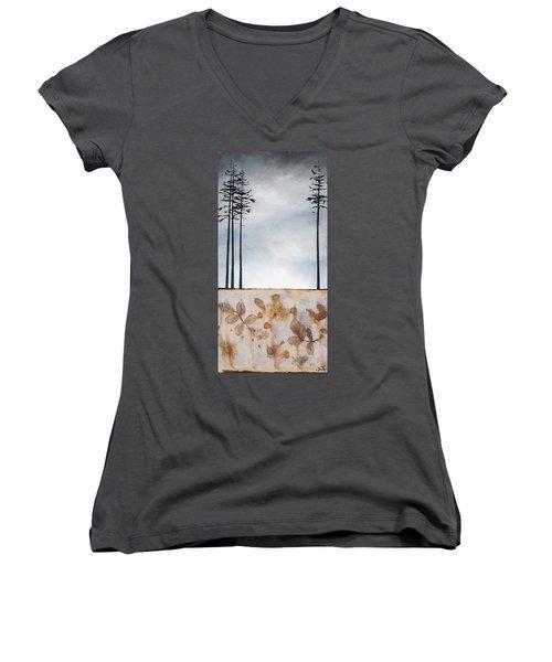 Earth And Sky Women's V-Neck T-Shirt (Junior Cut) by Carolyn Doe