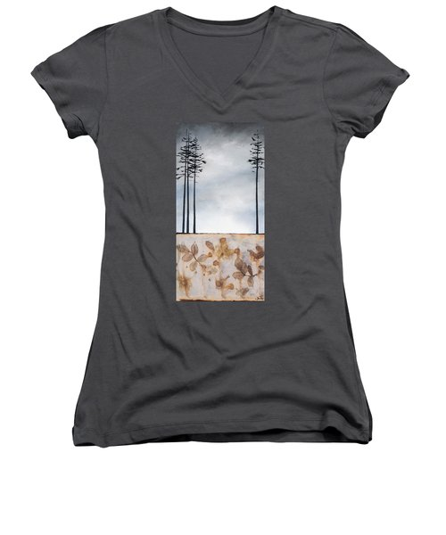 Earth And Sky Women's V-Neck (Athletic Fit)