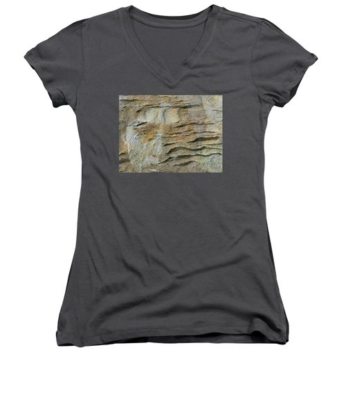 Women's V-Neck T-Shirt (Junior Cut) featuring the photograph Earth Memories-sleeping River # 2 by Ed Hall