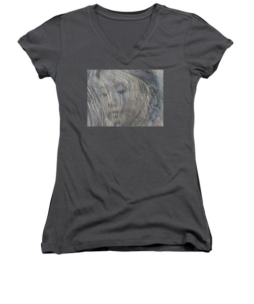 Women's V-Neck T-Shirt (Junior Cut) featuring the photograph Earth Memories - Sleeping River # 3 by Ed Hall