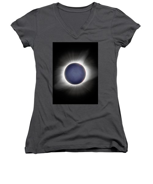 Earth-shine Women's V-Neck (Athletic Fit)