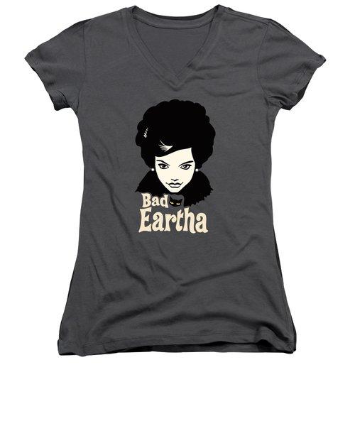 Eartha Kitt - That Bad Eartha Retro Poster Women's V-Neck (Athletic Fit)