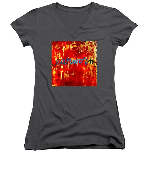 Earworm Women's V-Neck T-Shirt