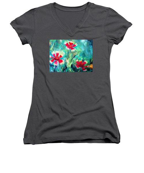 East Texas Wild Flowers Women's V-Neck