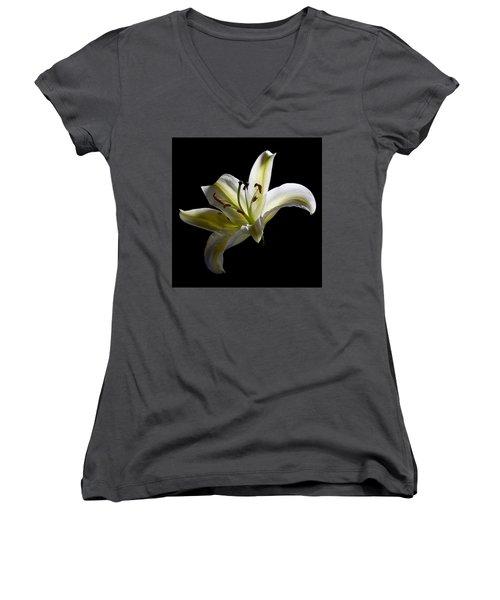 Easter Lily 2 Women's V-Neck