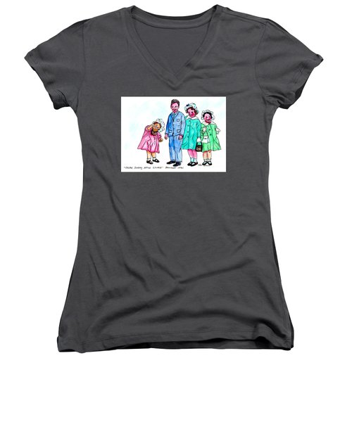 Easter Sunday - After Church Women's V-Neck (Athletic Fit)