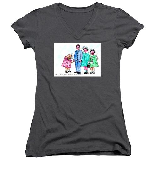 Easter Sunday - After Church Women's V-Neck T-Shirt (Junior Cut)