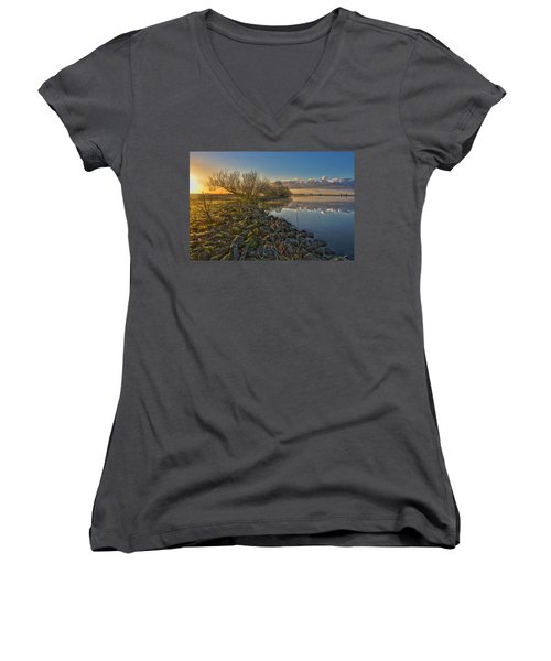 Easter Sunrise Women's V-Neck T-Shirt