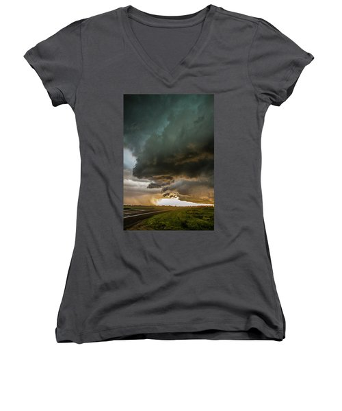 Eastern Nebraska Moderate Risk Chase Day Part 2 010 Women's V-Neck T-Shirt
