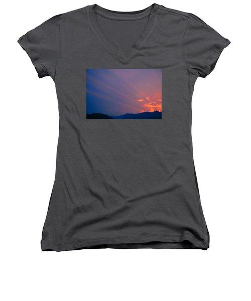Eastern Sunrise Women's V-Neck T-Shirt