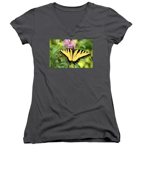 Eastern Tiger Swallowtail Butterfly Women's V-Neck T-Shirt
