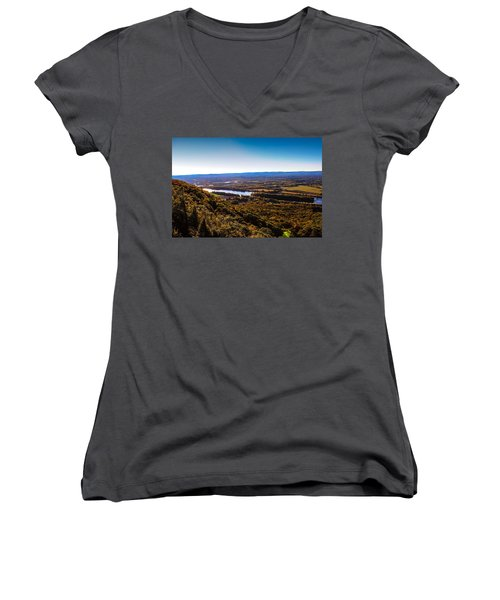 Easthampton View From Summit House Women's V-Neck