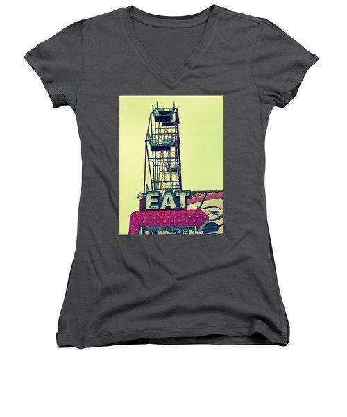 Eat Sign Women's V-Neck